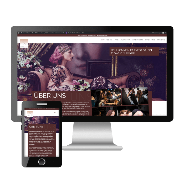 Symbolbild für die Desktop- und Mobilversion der neuen Webseite von Mycora